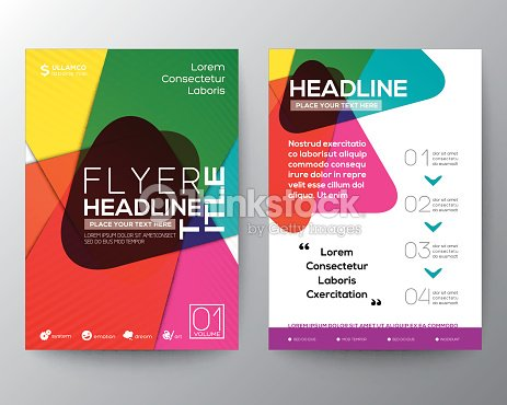 abstract colorful brochure flyer design layout vector template vector art