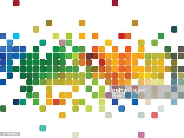 abstract colorful check pattern background