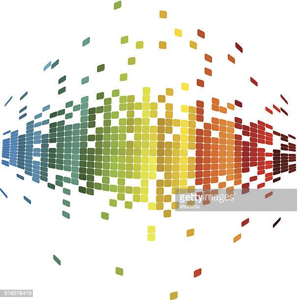 Abstrakte bunte Karomuster Technologie Hintergrund