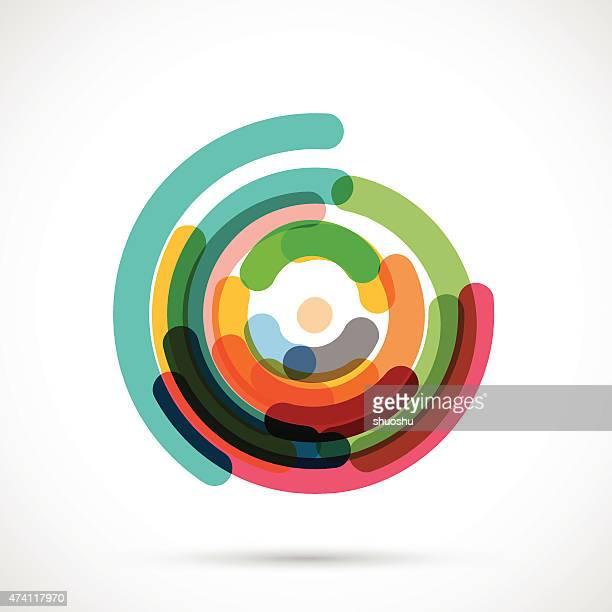 Abstrakt bunten Kreis Muster für Gestaltung
