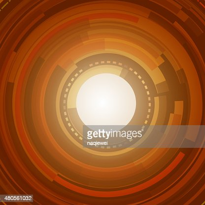 abstract colorful circle technology pattern background for design : Vector Art