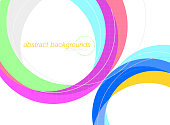 Abstract colorful swirl and curved on a white vector wallpaper backgrounds.Illustration is an eps10 file and contains transparency effects