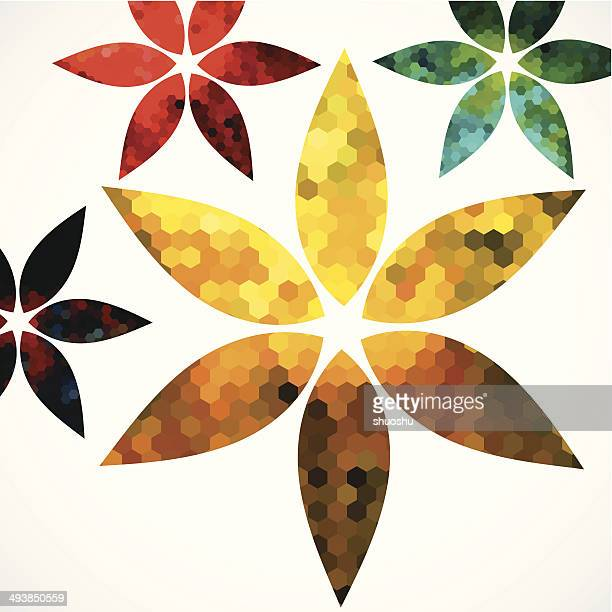 abstract colorful floral pattern background