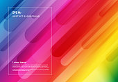 Abstract colorful geometric background and dynamic shapes fluid motion composition. Vector illustration