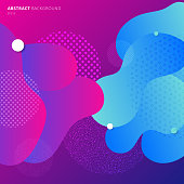 Abstract colorful geometric fluid colors gradient background. Modern geometry pattern. Banner web design composition. Vector illustration