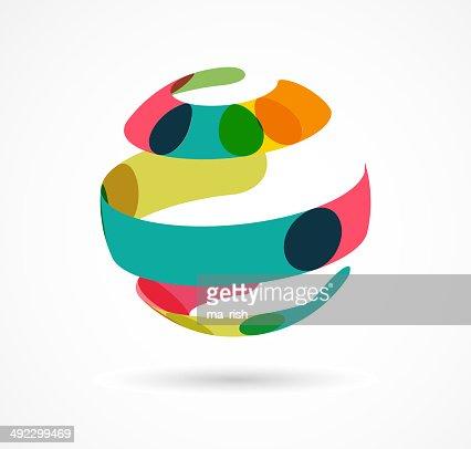 Abstrakte farbenfrohe Welt business-Symbol : Vektorgrafik