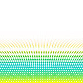 Abstract colorful halftone, minimalistic background from dots. Comic style backdrop, gradient halftone pop art-retro style. Template for ad, covers, posters, advertising actions.