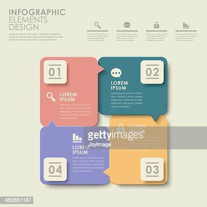 Abstrato colorido opção infographics : Arte vetorial