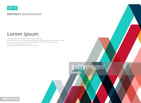 Abstract colorful overlap triangle pattern on white background with copy space : stock vector