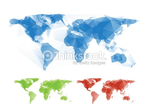 Abstract colorful triangle world map illustration vector art abstract colorful triangle world map illustration vector art gumiabroncs Gallery