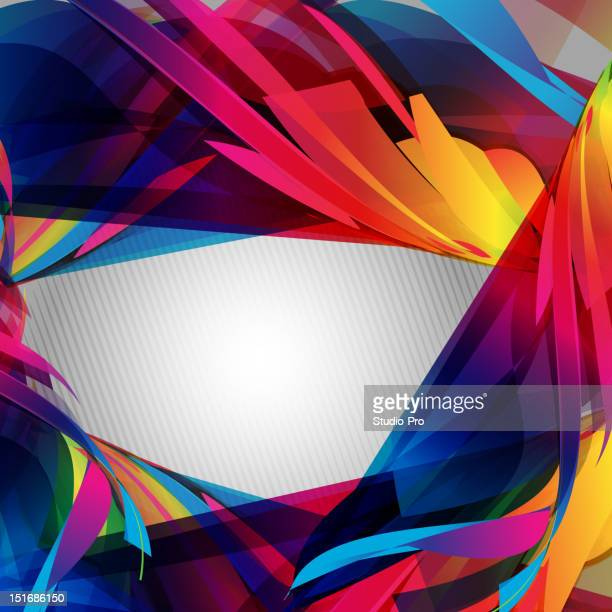 Abstract colorful vector swirl
