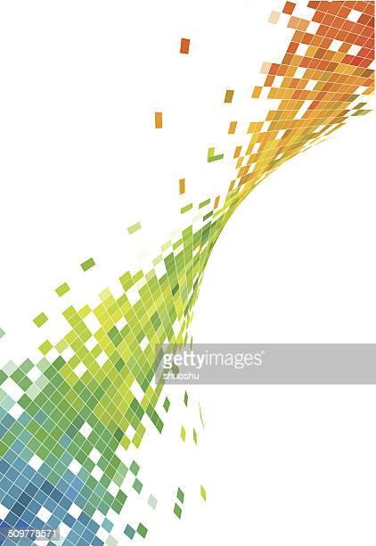 Arrière-plan coloré vague motif de fond de technologie