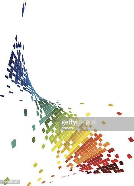 Onda colorato astratto tecnologia sfondo motivo a quadri