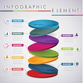 Abstract colour 3D infographic element. can used for banner,infographic,data,presentation business,chart,sign,brochure,leaflet ,web and instruction media.Vector illustration.