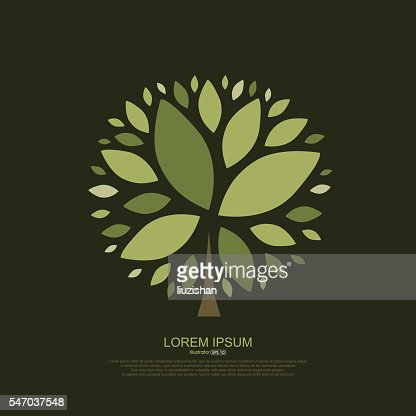Abstract composition of tree leaves : stock vector