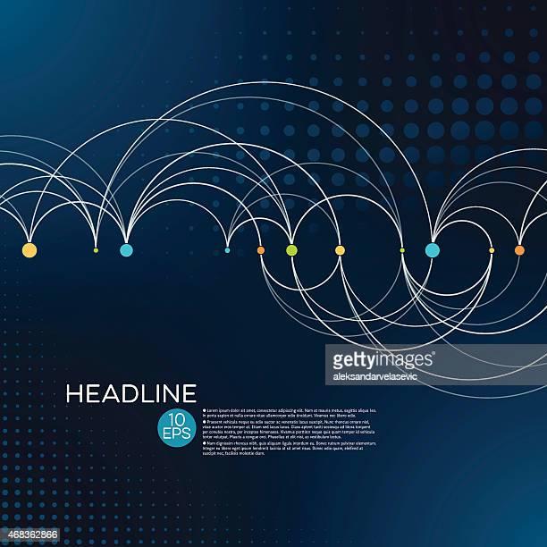 Abstrait fond de connexion