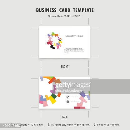 abstract creative business cards design template size 90mmx55mm