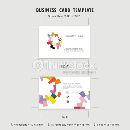 Abstrait Design De Modele Cartes Visite Creatives Taille 90 Mm X 55