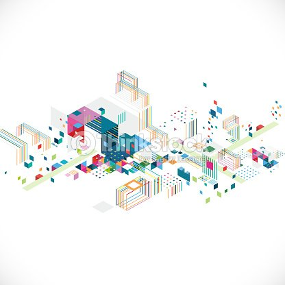 abstract creative geometrical architect and city concept : stock vector