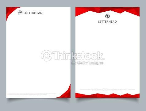 Abstrakte Kreative Briefkopf Design Vorlage Rot Geometrischen