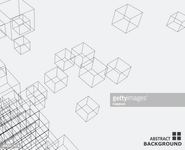abstract cube pattern background
