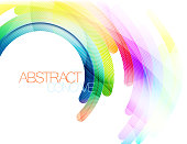 Colorful abstract curve scene vector concepts background template.Illustration is an eps10 file and contains transparency effects