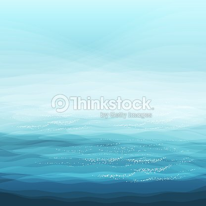 Abstract Design Creativity Background Of Blue Sea Waves