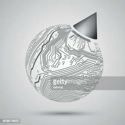 Abstract design of Earth, globe for sample, template, print presents : Vector Art
