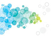 A colourful abstract background design with overlapping circles