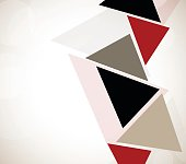 Abstract design with triangles. Tech illustration