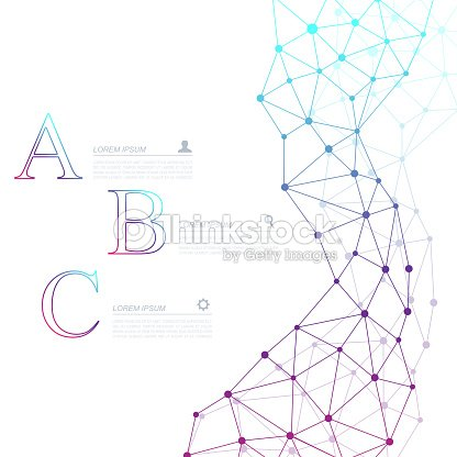 Abstract Dna Molecule Vector Business Infographic Medical Chemistry