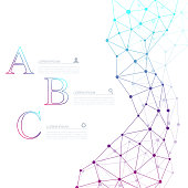 Abstract dna molecule vector business infographic. Medical chemistry infographic design. Scientific business template with options for brochure, diagram, workflow, timeline, web design