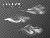 Smoky dynamic 3d effect. Vector isolated elements.