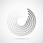 Ball, Shaped, Spotted, Logo, Halftone effect, Circle, Geometric Shape, Point