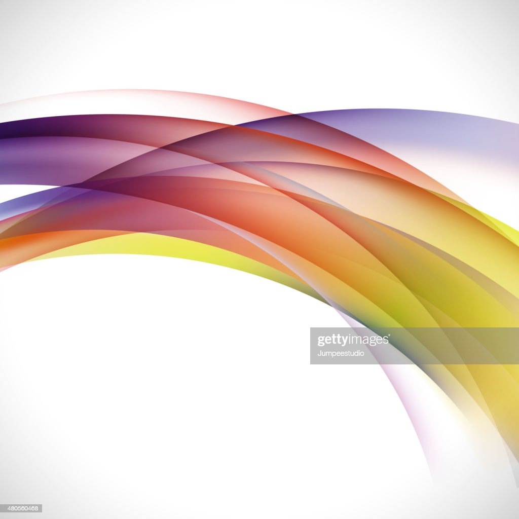 abstract elegant colorful curve background, vector illustration : Vector Art