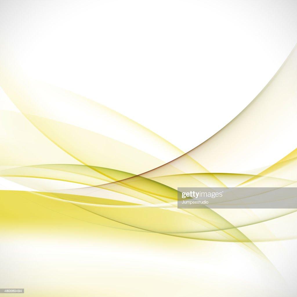 abstract elegant green wave background, vector illustration : Vector Art