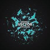 Background vector illustration. Blue cold ice blast. Mint or menthol power