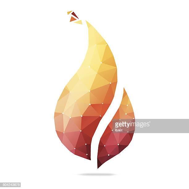 Abstrakte Flamme