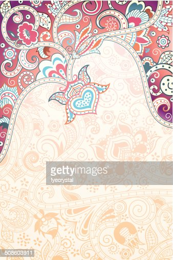 Abstract Floral Background : Vector Art