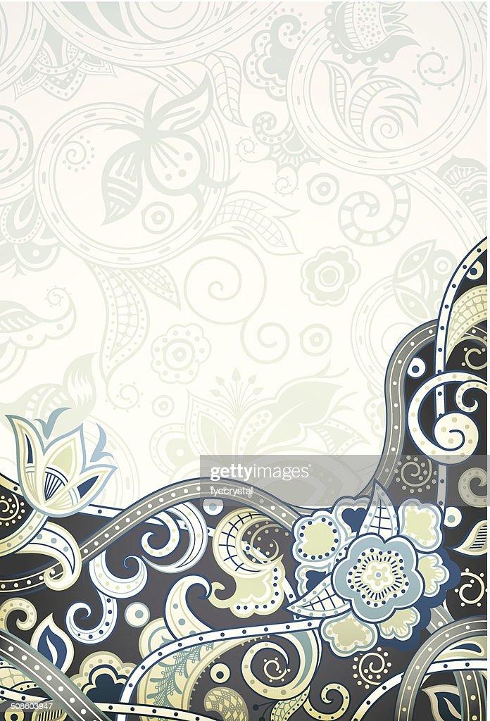 Fundo abstrato Floral : Arte vetorial