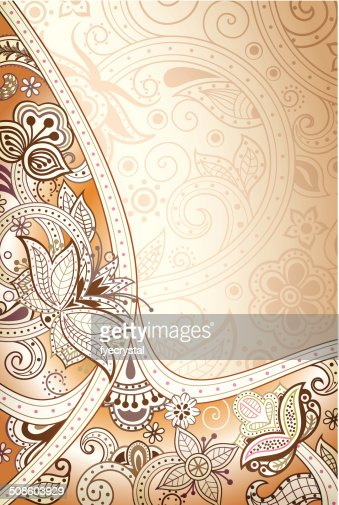 Abstract Floral Curve : Vector Art