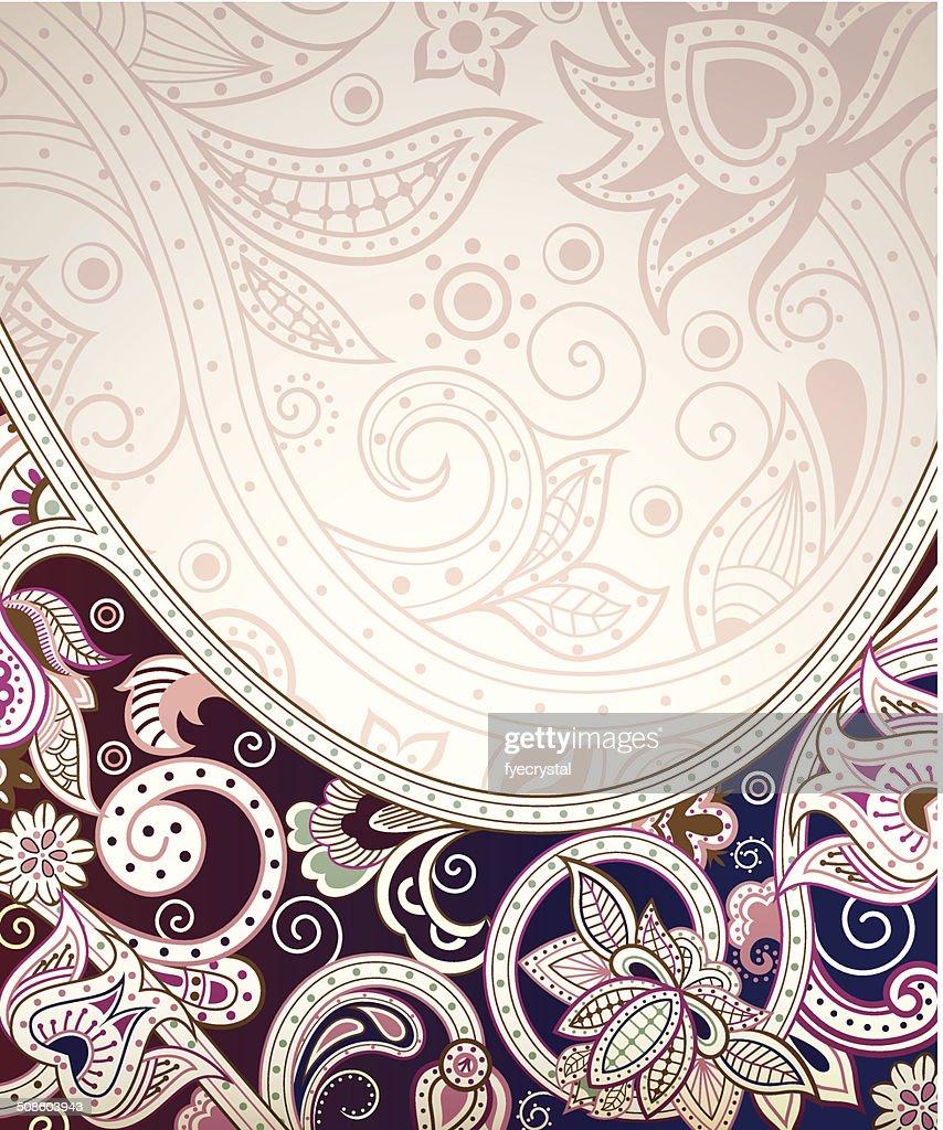 Abstrato Floral curva : Arte vetorial