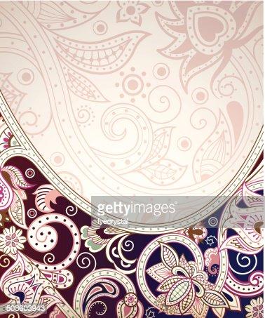 Abstract Floral curva : Arte vectorial