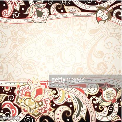 Abstract Floral bastidor : Arte vectorial