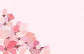 Abstract Floral Sakura Flower Japanese Natural Background Vector Illustration EPS10