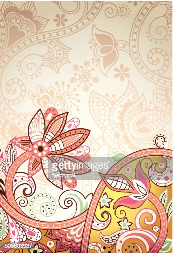 Abstract Floral : Vector Art