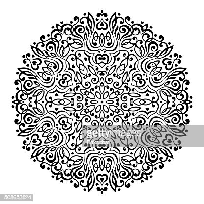 Abstract Flower Mandala. Decorative ethnic element for design : Vector Art