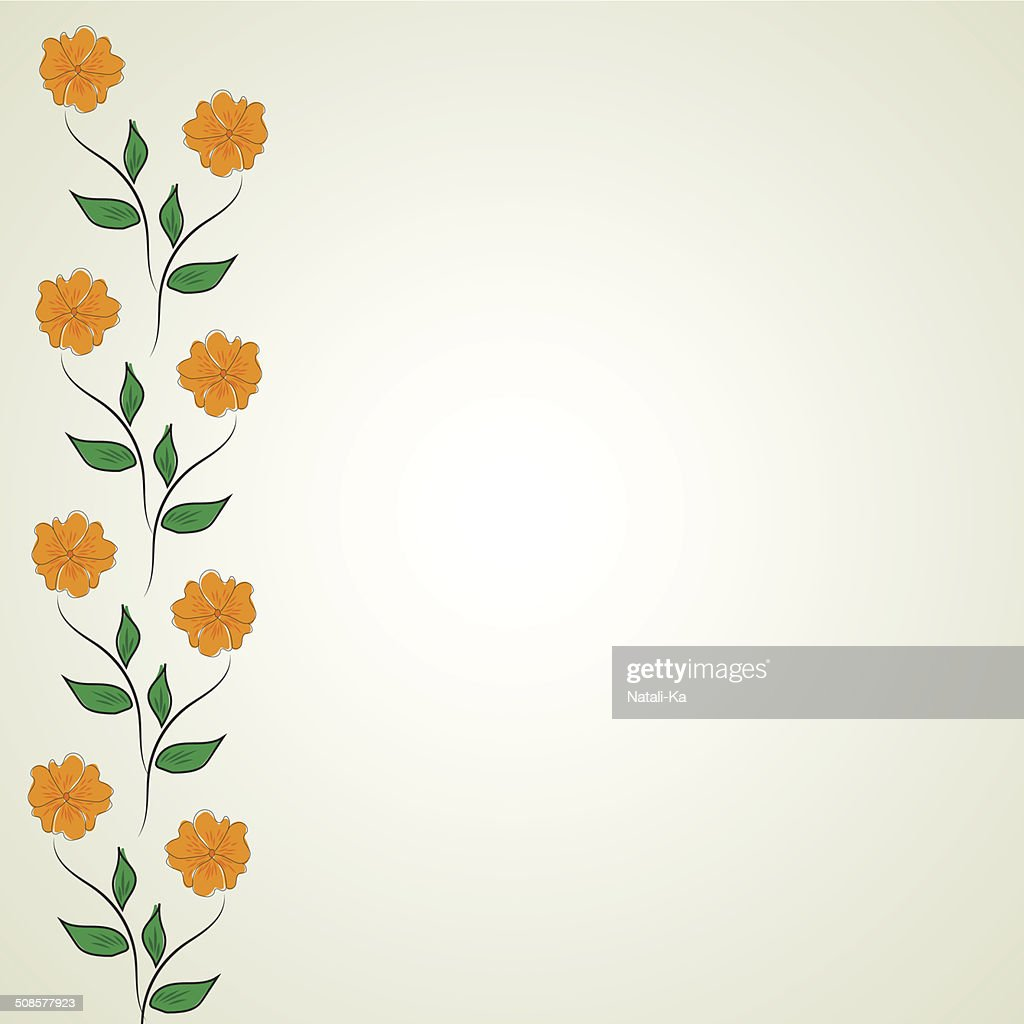 Abstract flower pattern : Vectorkunst