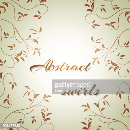 abstract flowers on a light background for text : Vector Art
