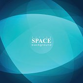 Abstract futuristic hyperspace universe on blue background. Vector infinite space background.